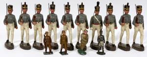010149 GERMAN ELASTOLIN TOY SOLDIERS 17 H 4 PLUS