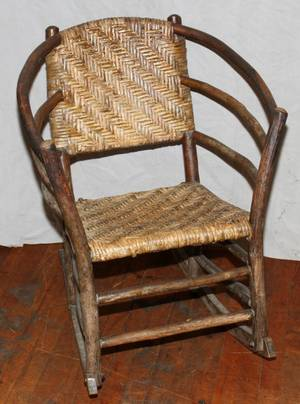 010124 BENTWOOD ROCKING CHAIR H 32 L 25