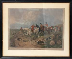 AFTER JF HERRING COLOR LITHOGRAPH 19TH C