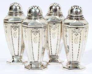 021271 GORHAM STERLING SALT  PEPPER SHAKERS