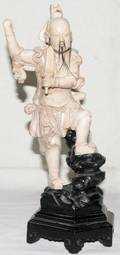 101278 CHINESE CERAMIC FIGURE OF A WARRIOR 19TH C