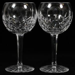 WATERFORD LISMORE CRYSTAL BALLOON WINES EIGHT