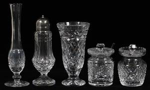 WATERFORD CRYSTAL TABLEWARE FIVE PIECES
