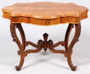 AMERICAN MAHOGANY PARLOR TABLE C 1870