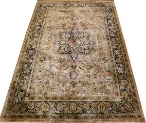CHINESE PURE SILK RUG 6 0 X 4 0