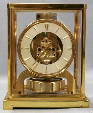 082222 LECOULTRE BRASS  GLASS ATMOS CLOCK