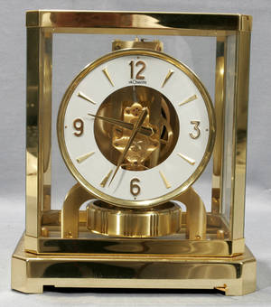 082221 LECOULTRE BRASS  GLASS ATMOS CLOCK