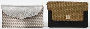 LANA MARKS WOVEN FABRIC  LIZARD SKIN EVENING BAGS