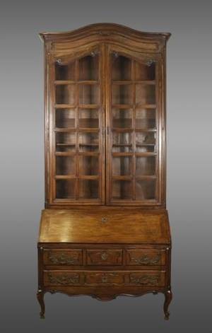 French Provincial Style Walnut Secretaire