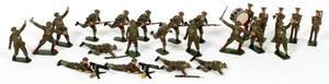 W BRITAIN LEAD TOY SOLDIERS C1930 25 PCS