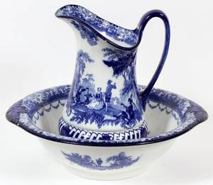 DOULTON WATTEAU ENGLISH WASH BASIN  PITCHER