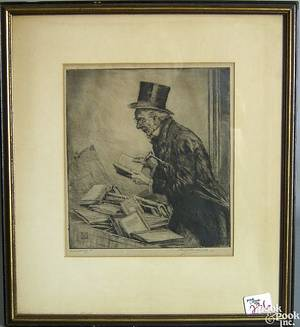 Five pencil signed etchings by Percy Lancaster