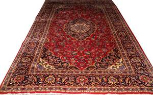 PERSIAN KESHAN WOOL RUG C 19601980