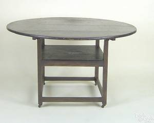 New England pine chair table ca 1800