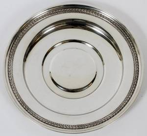 DOMINIC  HAFF STERLING SILVER ROUND TRAY