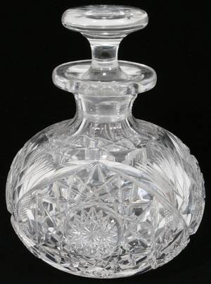 100449 CUT CRYSTAL PERFUME BOTTLE C1900