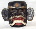 082413 INDONESIAN PAINTED WOOD MASK OF JERO LUH