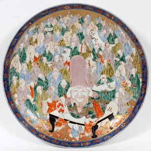 JAPANESE IMARI PORCELAIN CHARGER 19TH C
