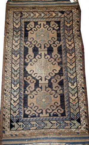 ANTIQUE CAUCASIAN WOOL RUG C LATE 19TH C