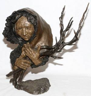 MARK HOPKINS BRONZE SCULPTURE