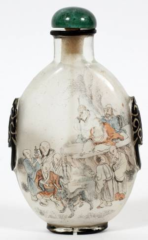 PAINTED GLASS SNUFF BOTTLE