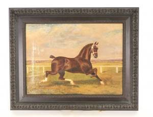 Manner of Verboeckhoven Equestrian Oil on Canvas