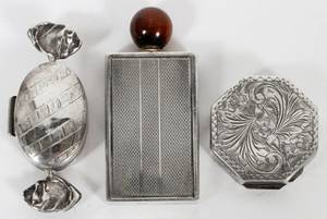 ARGENTINE STERLING BOXES  PERFUME BOTTLE 3 PIECES