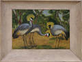 082475 CATHEY DONNELLY OIL ON ARTIST BOARD BIRDS