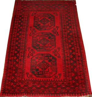 AFGHAN HAND WOVEN CARPET 3 X 5