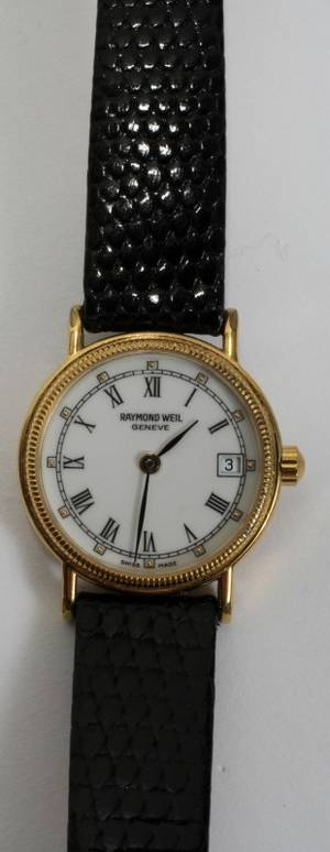 010520 LADYS RAYMOND WEIL 18KT GOLD PLATED WATCH