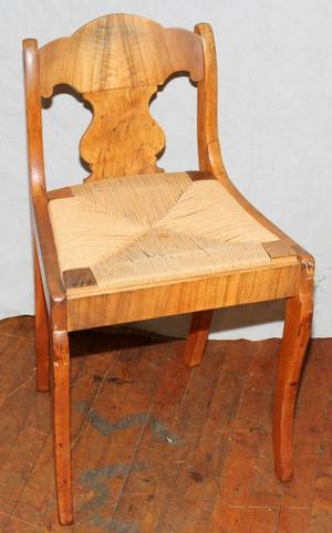 010516 TIGER MAPLE SMALL SIDE CHAIR H 30 L 18