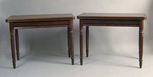 Pair of Empire mahogany card tables ca 1840