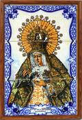 SARTEF SPANISH POTTERY TILE OF MADONNA