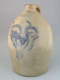 Four gallon stoneware jug 19th c