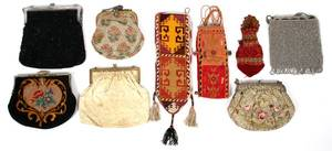 VINTAGE BEADED  EMBROIDERED EVENING BAGS NINE