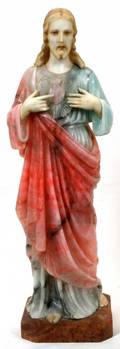 ITALIAN CARVED MULTICOLORED MARBLE SCULPTURE