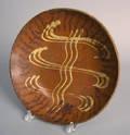 American redware plate 19th c