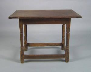 New England pine tavern table 18th c