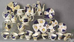 Extensive Gaudy Welsh tea service