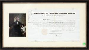 PRESIDENT JOHN TYLER SIGNED DOCUMENT 1842