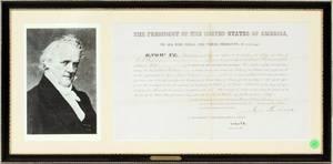 PRESIDENT JAMES BUCHANAN SIGNED DOCUMENT 1859