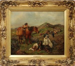 JAMES HARDY JR OIL ON CANVAS 1872