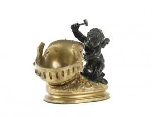 Louis Auguste Moreau Gilt Bronze Cherub Sculpture