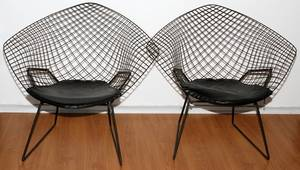 HARRY BERTOIA FOR KNOLL BLACK DIAMOND CHAIRS 2