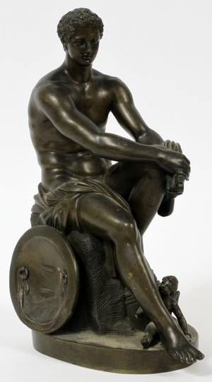 CLASSICAL BRONZE SCULPTURE MARS GOD OF WAR