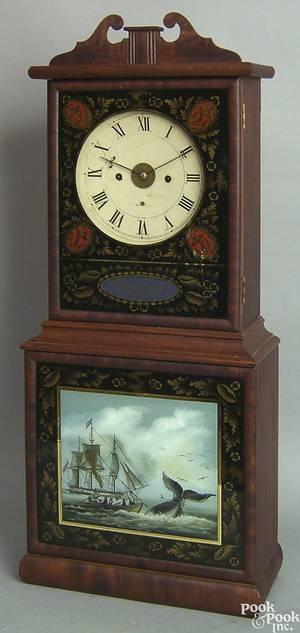 New Bedford Massachusetts Federal mahogany shelf clock ca 1815