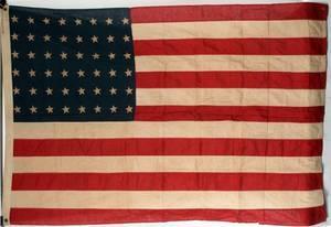 48 STAR AMERICAN FLAG C1950 H 46 W 72
