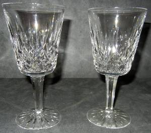 WATERFORD CUT CRYSTAL WINE GLASSES LISMORE 13