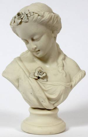 PARIAN BUST OF A YOUNG LADY H 7 14