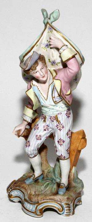 GERMAN BISQUE FIGURE OF A BOY 19TH C